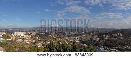 City And The Surrounding Mountains