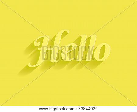 Hello message