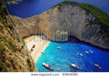 Navagio Beach - Shipwreck Beach, Zakynthos Island, Greece