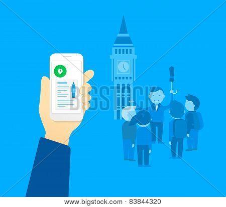 Mobile app for tourist