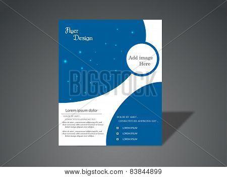 Brochure in Blue