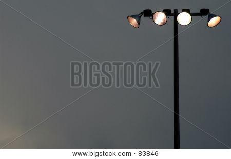 Floodlights At Dusk