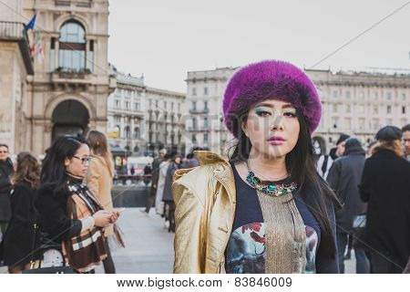 People Outside Cristiano Burani Fashion Show Building For Milan Women's Fashion Week 2015