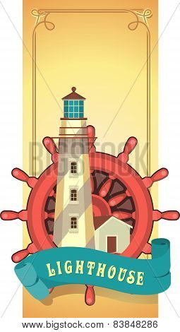 Lighthouse Emblem Card