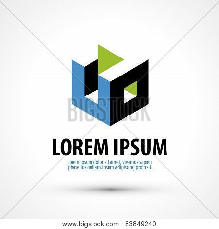 education trade mark vector logo design template. busines or company icon.