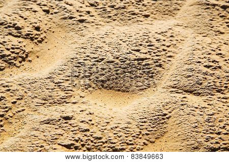 Brown Dry Sand In Sahara