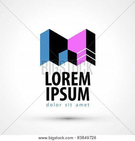 company name vector logo design template. busines or industry icon.