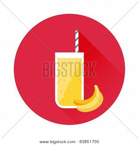 Banana juice vector icon