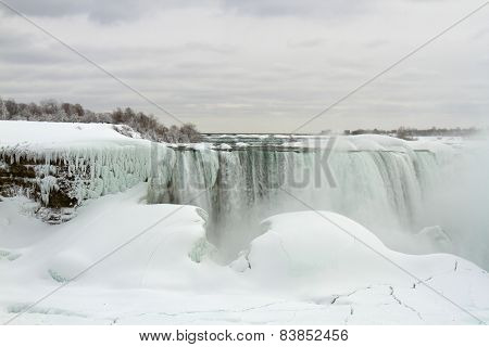 Niagara, Horseshoe Falls, Frozen In Winter