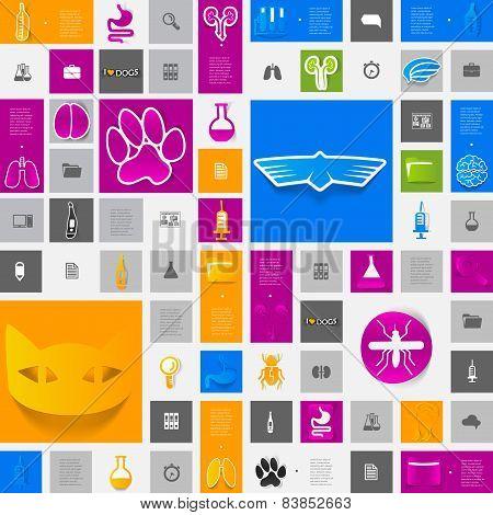 veterinary sticker infographic