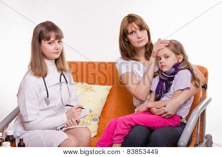 Pediatrician Visits A Sick Child At Home