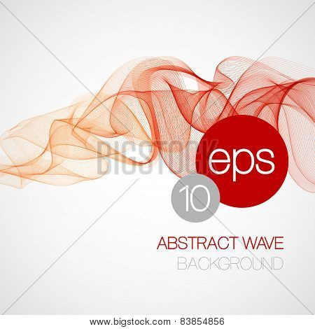 Smoke wave background. Vector illustration