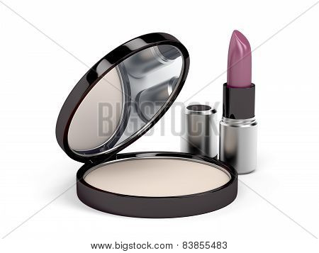Face Powder And Lipstick