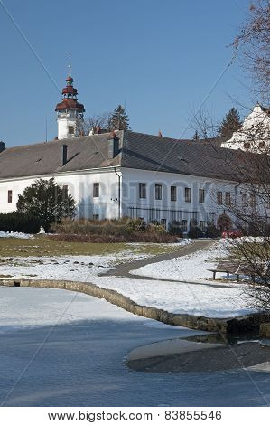 Castle Velke Losiny In Winter