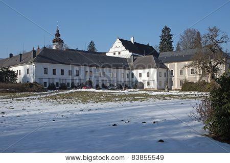 Castle Velke Losiny In Winter (czech Republic)