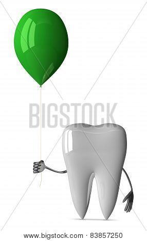 White Tooth With Balloon