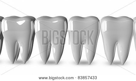White Teeth Isolated