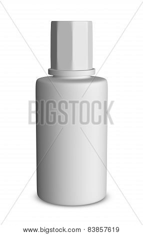 White Bottle Isolated