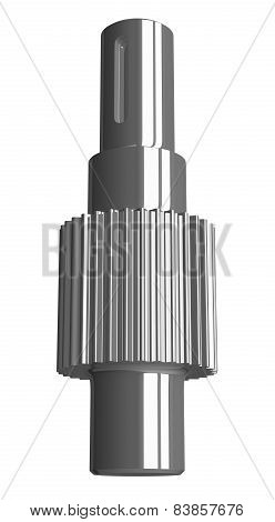 Steel Gear Shaft Isolated