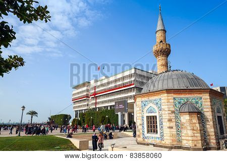Camii Mosque On Konak Square, Izmir, Turkey