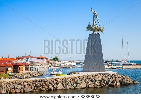 Statue Of Saint Nicholas In Nessebar, Bulgaria
