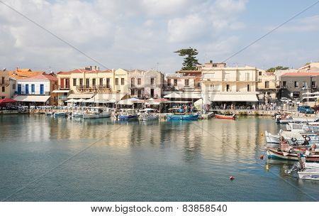 Old Venetian Port Of Rethymno, Crete, Greece