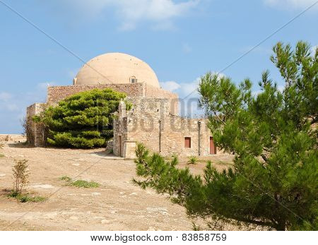 Venetian Fortezza Or Citadel In Rethymno, Crete, Greece