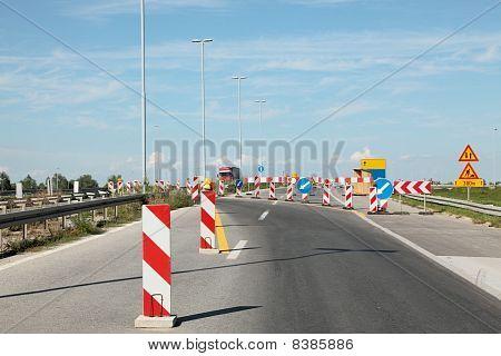 Rodovia em reconstrução