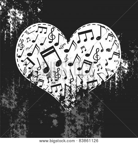 Heart Grunge With Music Inside