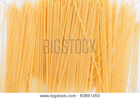 Isolated Uncoked Spagetti
