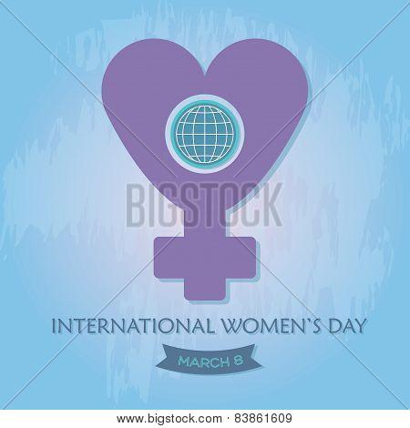 International Women's Day purple symbol