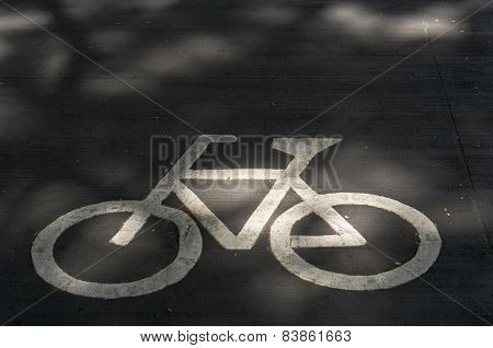 Sign of Bicycle on Road