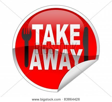 Take Away Food label and sticker