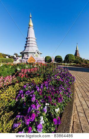 Pagoda At Inthanon Chiangmai Thailand