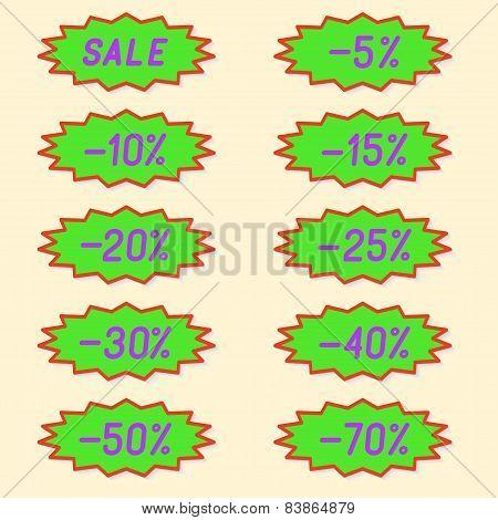Labels discounts.