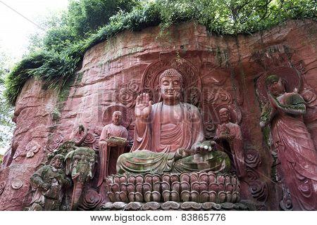 Mount Emei, Moya Carved Stone