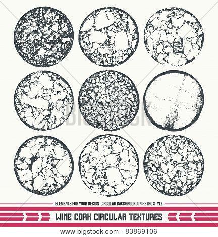 Wine Cork Circular Textures