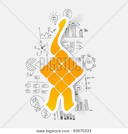 Drawing business formulas. ketupat
