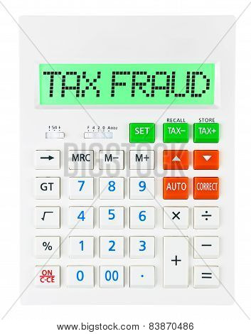 Calculator With Tax Fraud