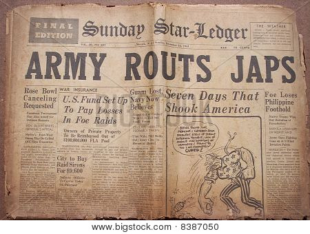 Historical World War Headlines 2