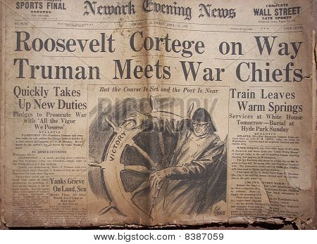 Historical World War Headlines 5