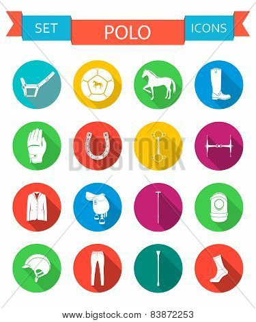 Vector Set Of Icons And Sign Of Polo
