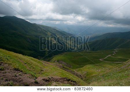 Mountain Road In Georgia