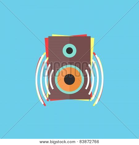 colorful audio speaker icon