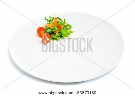 Side dish isolated on white