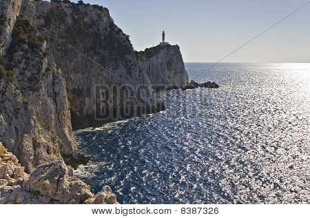 Lighthouse at Lefkada, Ionian sea, Greece