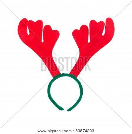 Pair of toy reindeer horns.