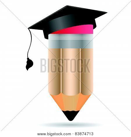 Pencil In A Graduation Visor.eps