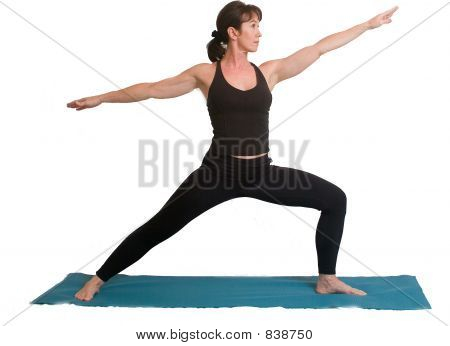 Yoga poses and exercise