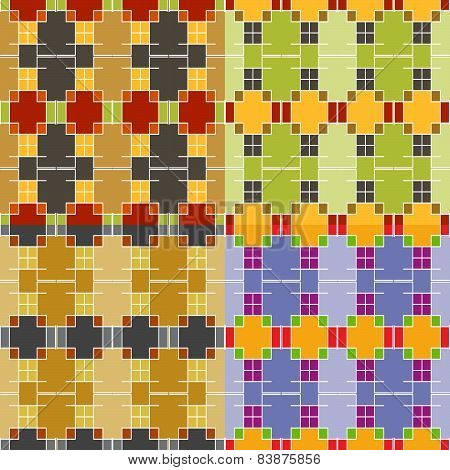 Seamless Colorful Symmetric Patterns
